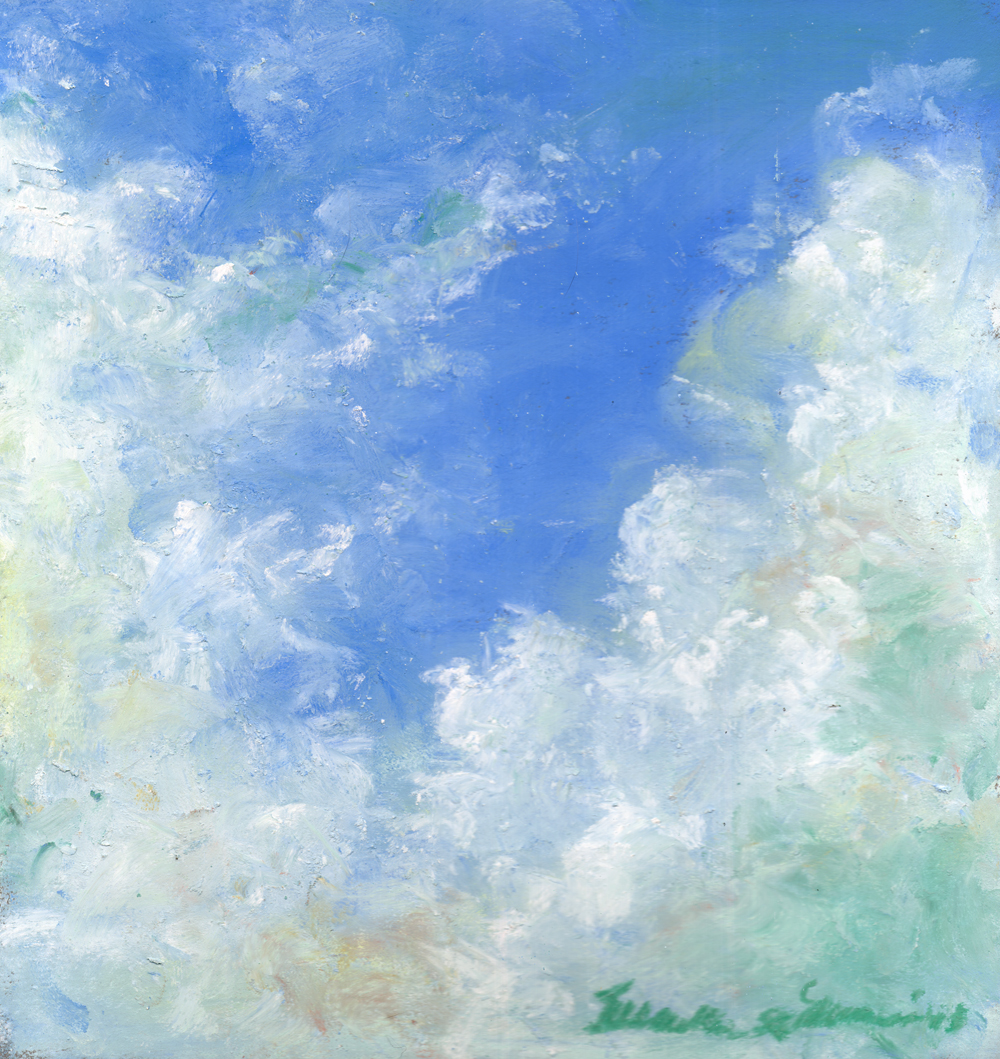 April Cloud Study, pastel, 9 x 9 © Bernadette E. Kazmarski