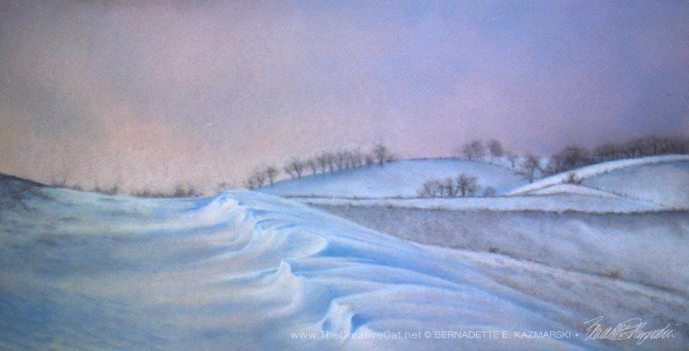 Winter, pastel, 12 x 24, 1998 © Bernadette E. Kazmarski